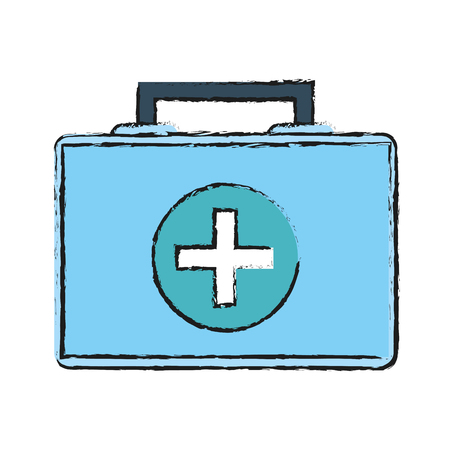 Medical kit icon health care and hospital theme Isolated design Vector illustration