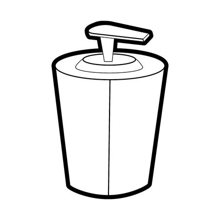 健康的なライフ スタイルとケアのテーマ分離デザイン ベクトル イラストのボディ クリーム
