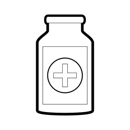 Medicine jar icon health care and hospital theme Isolated design Vector illustration