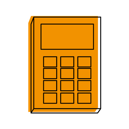 Calculator of tool mathematics and finance theme Isolated design Vector illustration