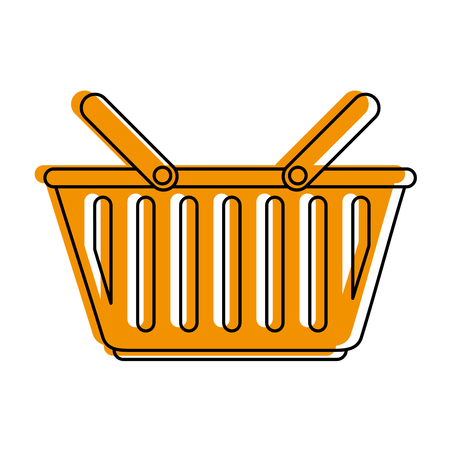 Basket of shopping commerce and market theme Isolated design Vector illustration