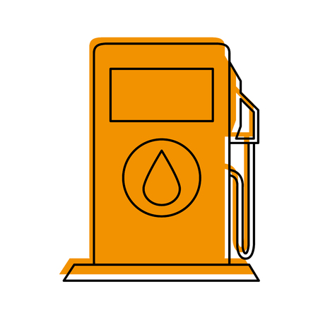 Gas station of industry and fuel theme Isolated design Vector illustration