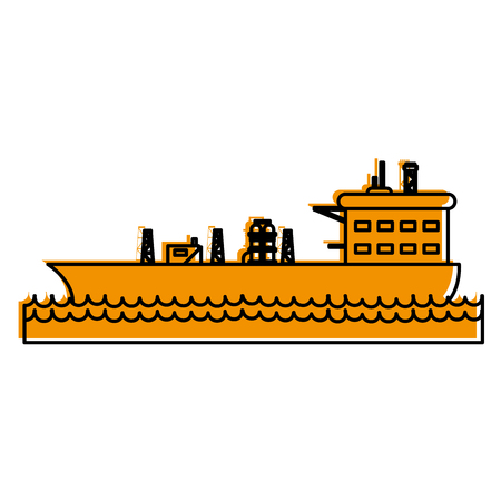 Oil tanker of industry and fuel theme Isolated design Vector illustration