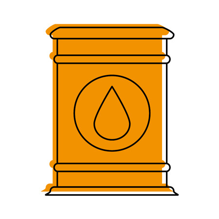 Oil barrel of industry and fuel theme Isolated design Vector illustration