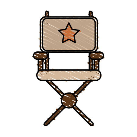 director chair: Director chair of movie film and cinema theme Isolated design Vector illustration
