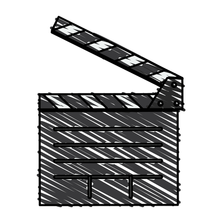 film industry: Clapboard of movie film and cinema theme Isolated design Vector illustration