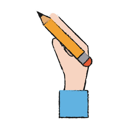 secretarial: Pencil icon of tool write and office theme Isolated design Vector illustration Illustration