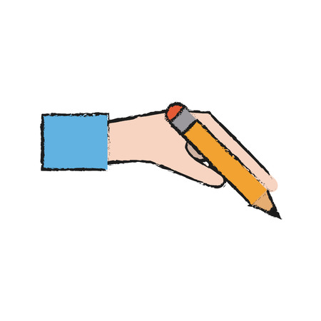 Pencil icon of tool write and office theme Isolated design Vector illustration Illustration