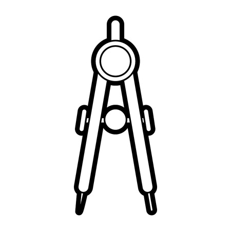 Compass icon of tool write and instrument theme Isolated design Vector illustration