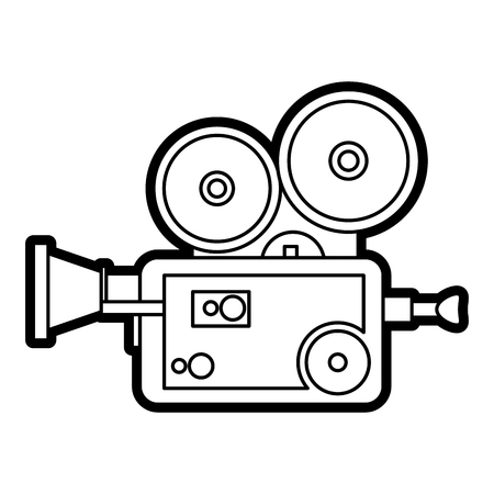 Retro video camera of device gadget and vintage theme Isolated design Vector illustration Illustration