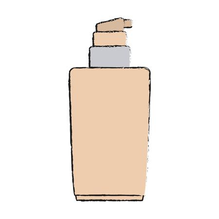 surface liquide de maquillage de l & # 39 ; espace et le thème cosmétique isolé conception illustration vectorielle