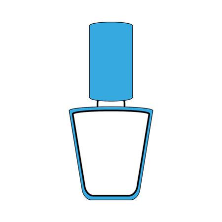 メイクアップアクセサリーや化粧品のテーマのマニキュア孤立したデザインベクトルイラスト