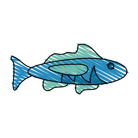 water ecosystem: Fish of animal sea life and ecosystem theme Isolated design Vector illustration