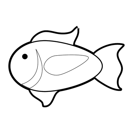 Fish of animal sea life and ecosystem theme Isolated design Vector illustration