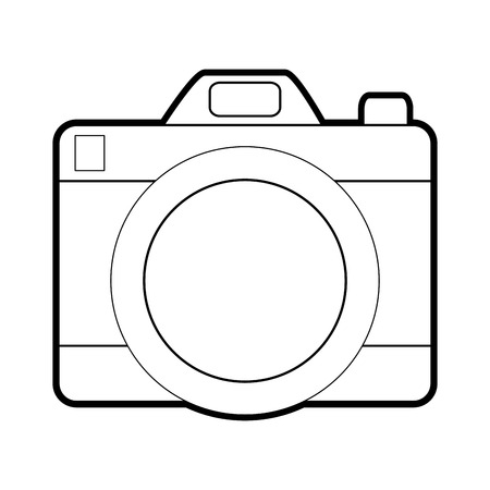 Camera of device gadget and technology theme Isolated design Vector illustration