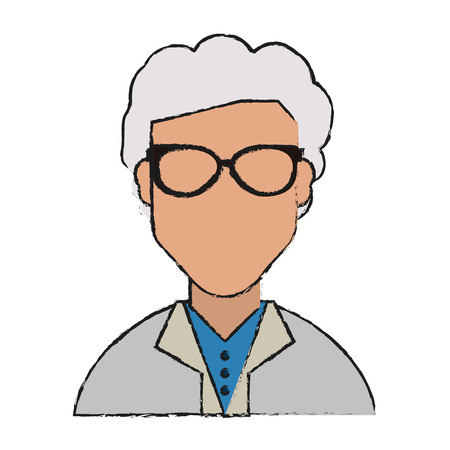 Grandmother of old person and woman theme Isolated design Vector illustration