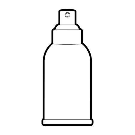 健康的なライフ スタイルとスキンケア テーマ分離デザイン ベクトル イラスト クリーム ボトル