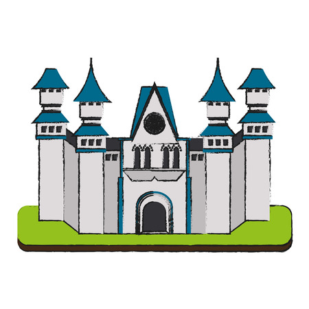 Castle of medieval and fairytale theme Isolated design Vector illustration Illustration