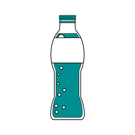 Soda of drink beverage  theme Isolated design Vector illustration