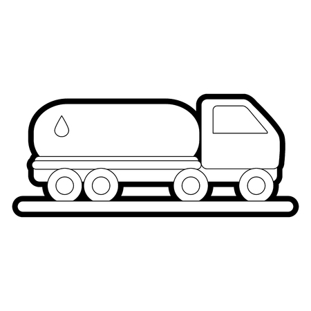 Oil truck of industry and fuel theme Isolated design Vector illustration