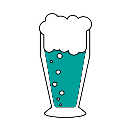 Beer glass of pub alcohol and bar theme Isolated design Vector illustration