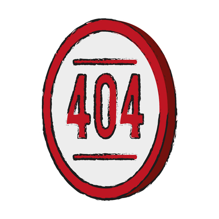 web site design template: Error 404 not found icon vector illustration graphic design