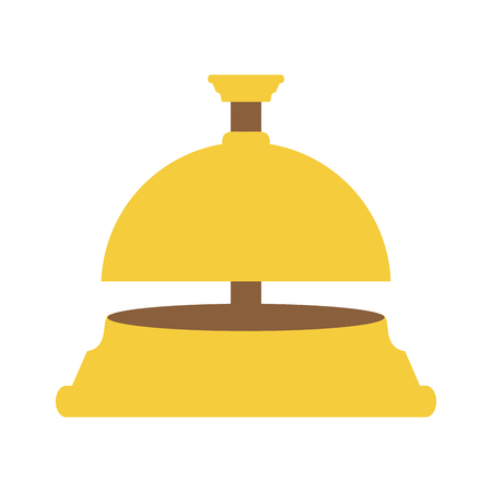 reception bell hotel related icon image vector illustration design