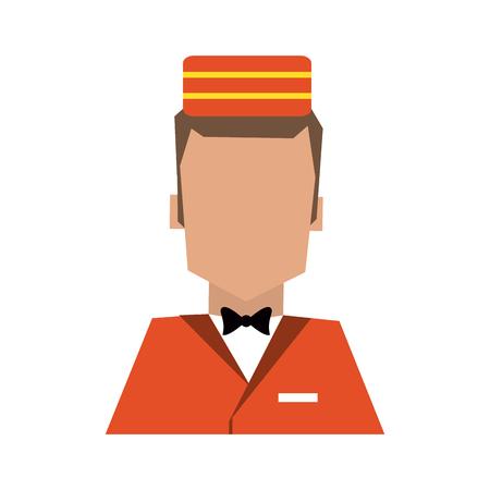 bellman avatar portrait  hotel related icon image vector illustration design