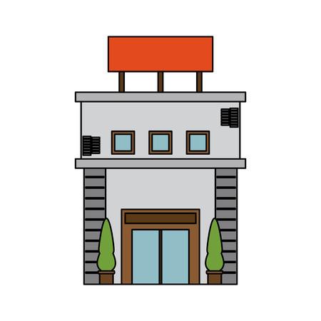 빈 기호 아이콘 이미지 벡터 일러스트 디자인 도시 건물.