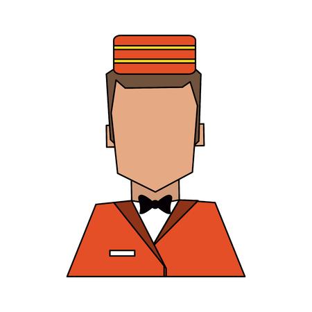 Bellman avatar portrait  hotel related icon image vector illustration design. Illustration