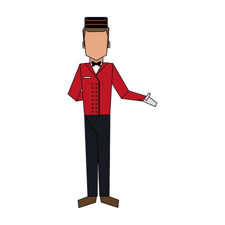 Bellman avatar hotel related icon image vector illustration design.