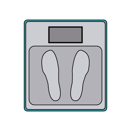 bathroom scale: weight scale icon image vector illustration design