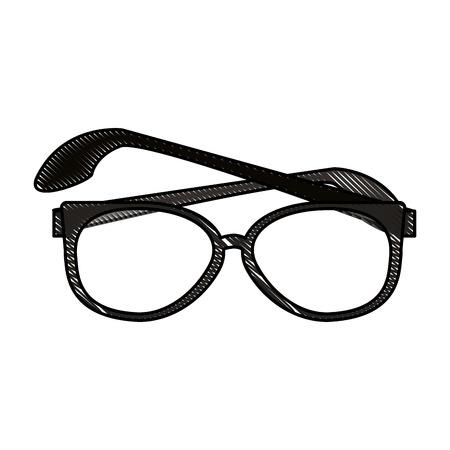Geek fashion glasses icon vector illustration graphic design Illustration