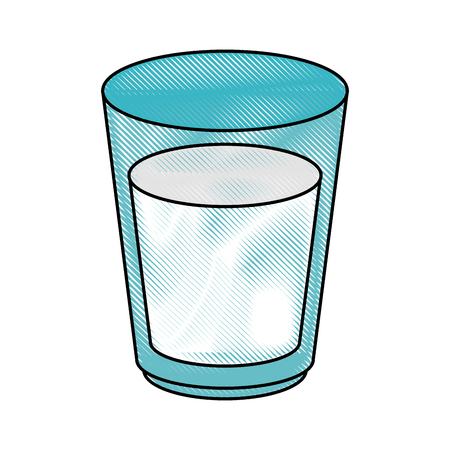 pasteurized: Glass with milk icon vector illustration graphic design