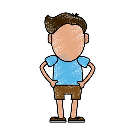 condominium: Hipster cute cartoon icon vector illustration graphic design