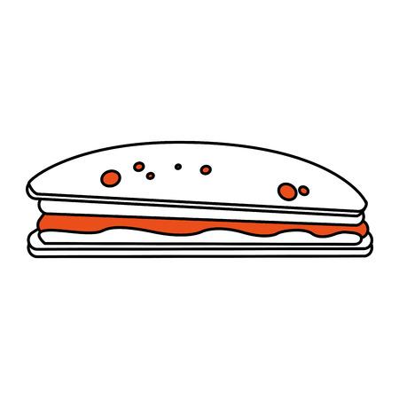 Delizioso cibo sandwich icona illustrazione vettoriale illustrazione grafica Archivio Fotografico - 85187531