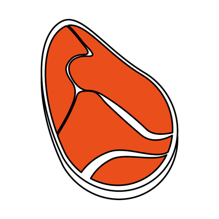 Beef steak food icon vector illustration graphic design Illustration