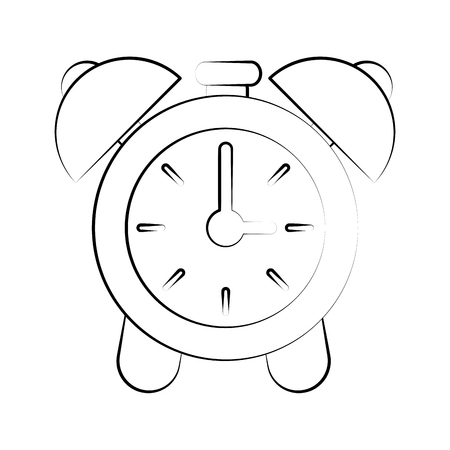 apartment bell: Clock with alarm bells icon vector illustration graphic design