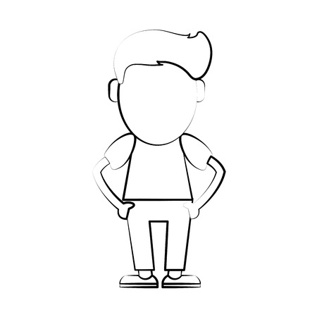 Hipster cute cartoon icon vector illustration graphic design