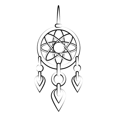 A Dream catcher symbol icon vector illustration graphic design.