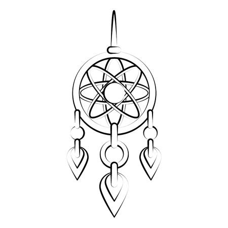 A Dream catcher symbol icon vector illustration graphic design.