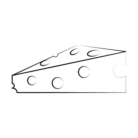 Progettazione grafica dell'illustrazione di vettore dell'icona dell'alimento del formaggio delizioso Archivio Fotografico - 85200154