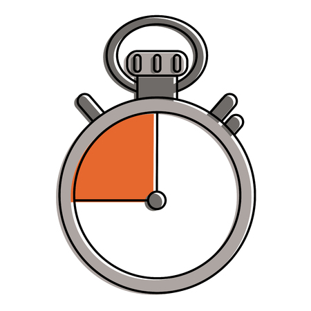 Chronometer timer isolated icon vector illustration graphic design