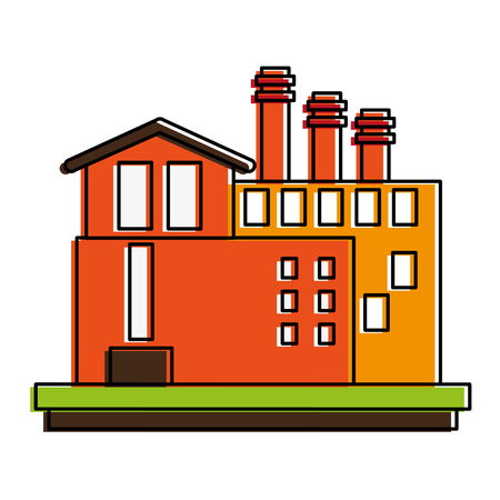 industrail: Industrial plant factory icon vector illustration graphic design Illustration