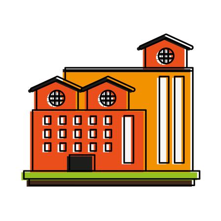 Industrial plant factory icon vector illustration graphic design Illustration