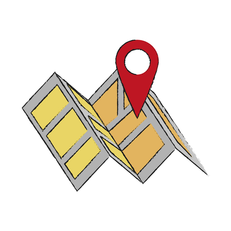 global positioning system: Map location pointer icon vector illustration graphic design