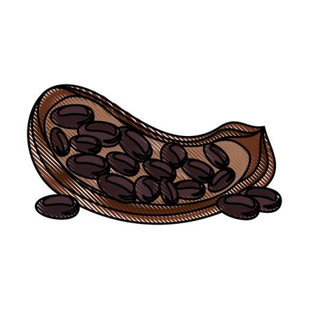 Nuts natural snack icon vector illustration graphic design