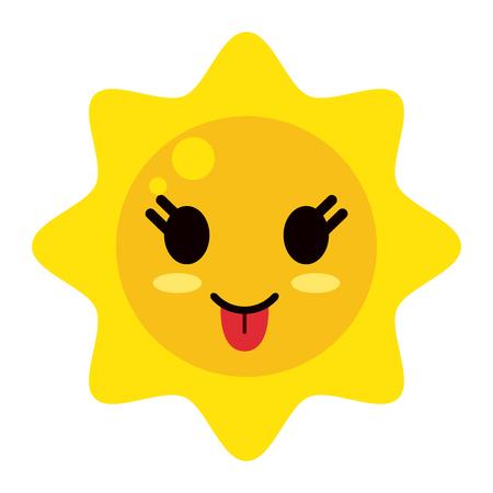太陽漫画スタイル アイコン画像ベクトル イラスト デザイン