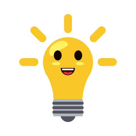 regular lightbulb style icon image vector illustration design