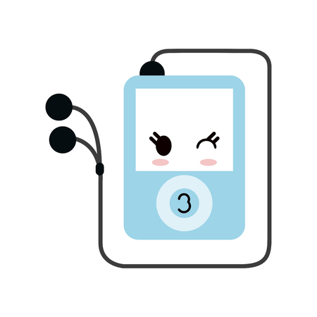 portable music player style icon image vector illustration design